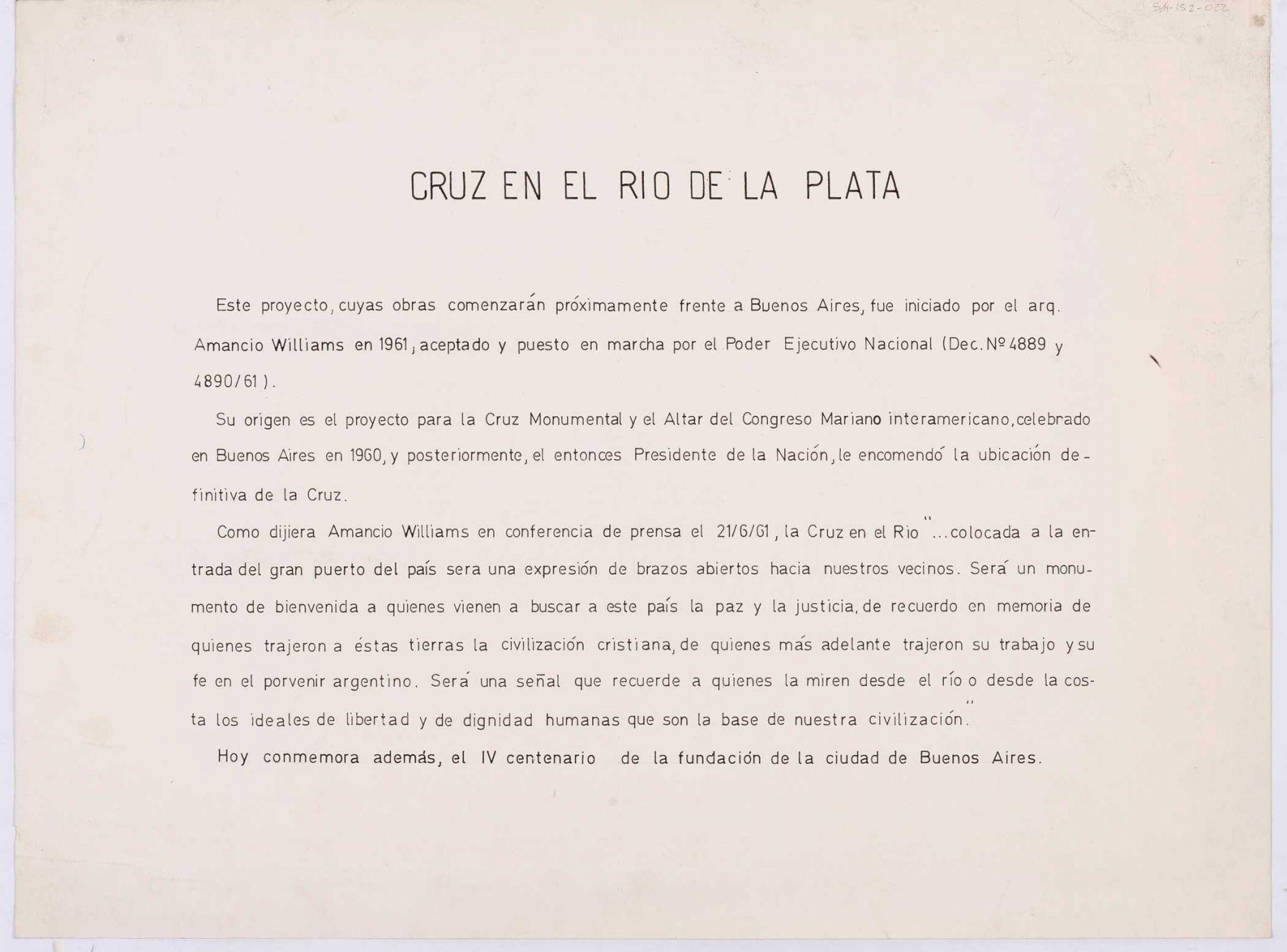 Cruz en el Río de La Plata